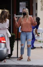 MOLLY SIMS in Ripped Denim Out in Santa Monica 10/24/2020