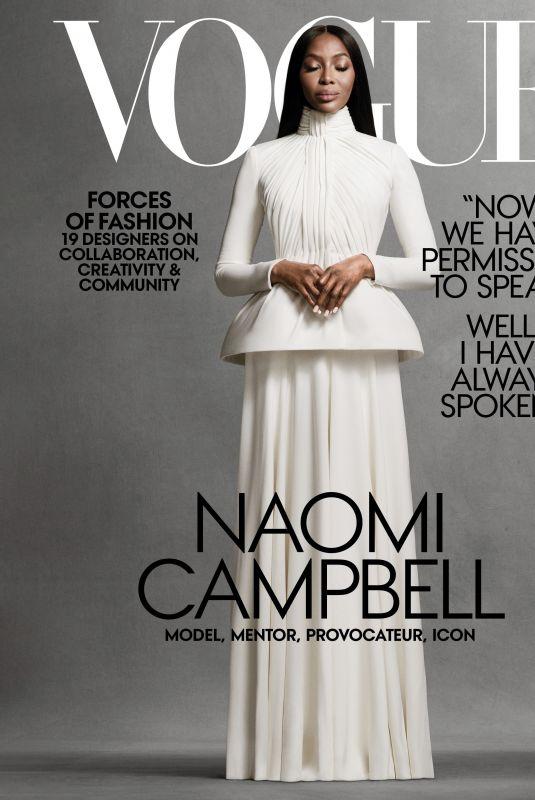 NAOMI CAMPBELL in Vogue Magazine, November 2020