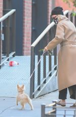 NAOMI WATTS Out with Her Dog in New York 10/07/2020