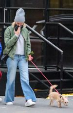 NAOMI WATTS Out with Her Dog in New York 10/17/2020