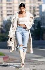 NICOLE WILLIAMS in Ripped Denim Out in Los Angeles 10/26/2020