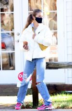 NINA AGDAL Out and About in New York 10/18/2020