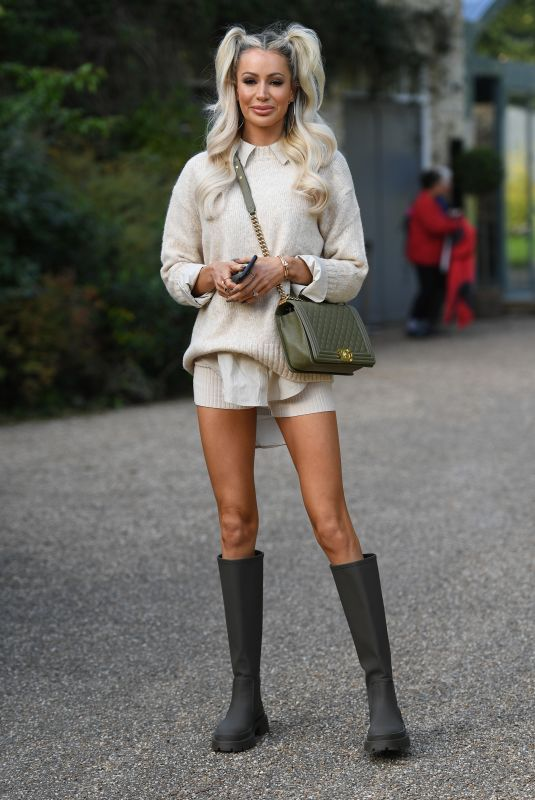 OLIVIA ATTWOOD on the Set of The Only Way is Essex 10/07/2020