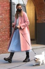 OLIVIA PALERMO Out with Her Dog in New York 10/14/2020