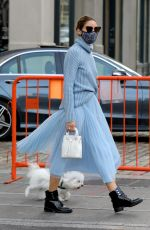 OLIVIA PALERMO Out with Her Dog in New York 10/24/2020