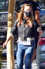 OLIVIA WILDE Out and About in Los Angeles 10/15/2020