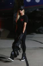 PARIS HILTON All in Black Arrives in Los Angeles 10/09/2020