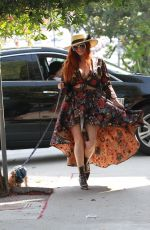 PHOEBE PRICE Out with Her Dog in Los Angeles 10/15/2020