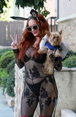 PHOEBE PRICE Out with Her Dog in Los Angeles 10/30/2020