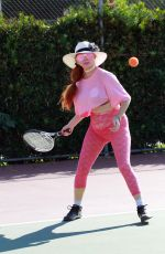 PHOEBE PRICE Playing Tennis at a Court in Los Angeles 10/12/2020