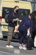 POM KLEMTIEFF and HAYLEY ATWELL at Termini Station in Rome 10/19/2020
