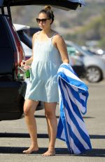 Pregnant APRIL LOVE GEARY Arrives at a Beach in Malibu 10/14/2020