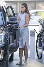 Pregnant APRIL LOVE GEARY at a Gas Station in Malibu 10/14/2020