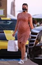 Pregnant APRIL LOVE GEARY Out for Dinner at Nobu in Malibu 10/13/2020