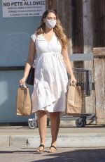Pregnant APRIL LOVE GEARY Out Shopping in Malibu 10/30/2020