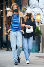 Pregnant ELSA HOSK and Tom Daly Out in New York 10/14/2020