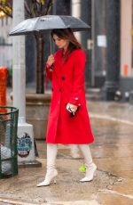 Pregnant EMILY RATAJKOWSKI Out for Lunch in New York 10/29/2020