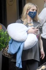Pregnant EMMA ROBERTS Leaves an Office in los Angeles 10/21/2020