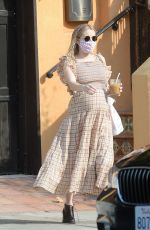 Pregnant EMMA ROBERTS Out in Los Angeles 10/05/2020