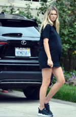 Pregnant JESSICA HART Out in Los Angeles 10/30/2020