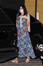 Pregnant KATHARINE MCPHEE at Nobu in Malibu 10/16/2020