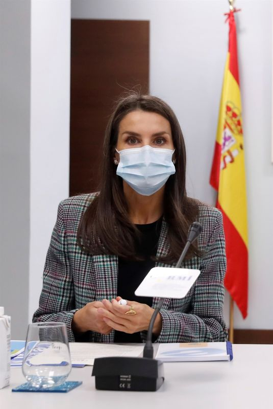 QUEEN LETIZIA OF SPAIN at Meeting with Spanish Committee of Representatives of People with Disabilities 10/27/2020