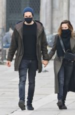 REBECCA FERGUSON Out with Her Boyfriend in Venice 10/22/2020