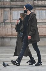 REBECCA FERGUSON Out with Her Boyfriend in Venice 10/22/2020