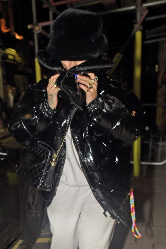 RITA ORA Hiding from Cameras Out in London 10/14/2020