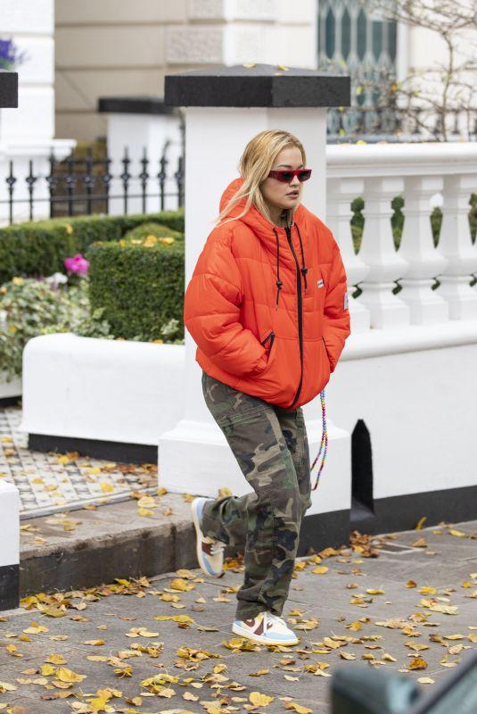 RITA ORA Leaves Her Home in London 10/12/2020