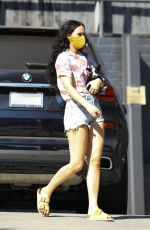 RUMER WILLIS in Denim SHorts Out with Her Dog in Los Angeles 10/16/2020