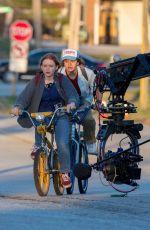 SADIE SINK and Gaten Matarazzo on the Set of Stranger Things, Season 4 in Atlanta 10/20/2020