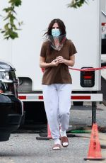 SANDRA BULLOCK on the Set of Her Latest Movie in Vancouver 10/08/2020