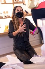 SARAH JESSICA PARKER at Her SJP Collection Shoe Store in New York 09/30/2020