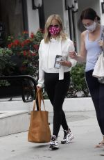SARAH MICHELLE GELLAR Wearing a Vote Mask Out in Brentwood 10/07/2020