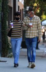 SELMA BLAIR and Ron Carlson at Alfred Coffee in Los Angeles 10/27/2020