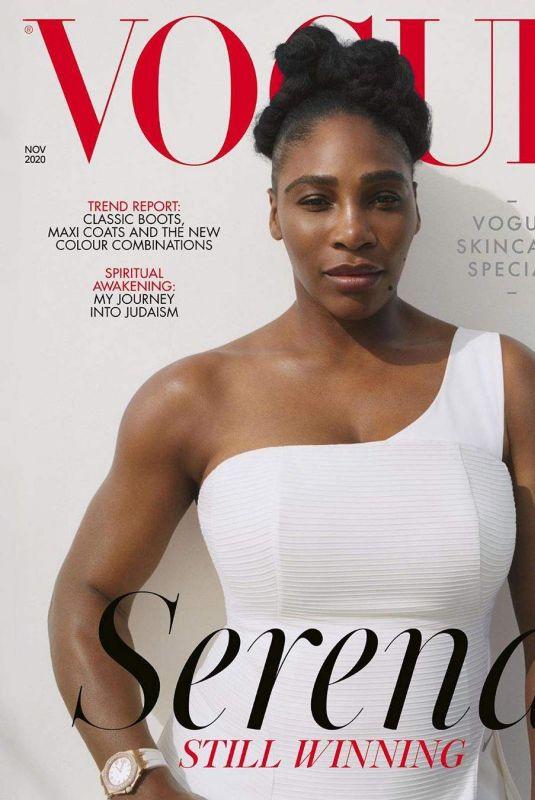 SERENA WILLIAMS for Vogue Magazine, Novemeber 2020