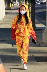 SKAI JACKSON Arrives at DWTS Studio in Los Angeles 10/28/2020