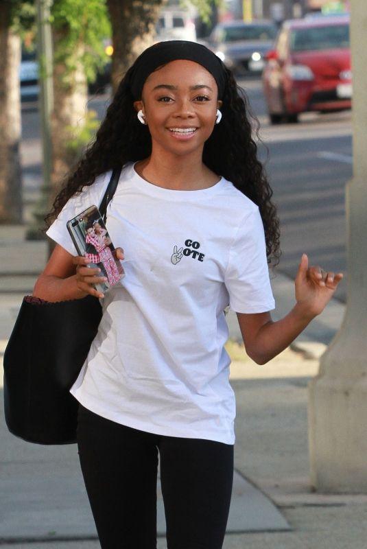 SKAI JACKSON at DWTS Rehersal in Los Angeles 09/30/2020