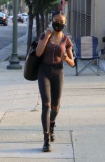 SKAI JACKSON Heading to DWTS Practice in Los Angeles 10/09/2020