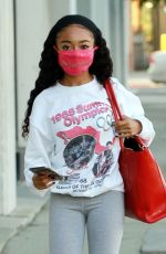 SKAI JACKSON in a Vintage 1968 Summer Olympic Shirt at DWTS Studio in Los Angeles 10/27/2020