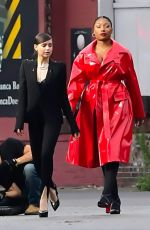 SOFIA CARSON and MEGAN THEE STALLION on the Set of Revlon Commercial in New York 10/01/2020