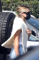 SOFIA RICHIE in Denim Shorts Out for Lunch in Malibu 10/11/2020