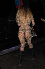 SOMMER RAY in a Leopard Costume at Stassie Halloween Party 10/31/2020