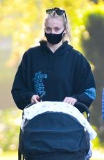 SOPHIE TURNER and Joe Jonas Out and About in Los Angeles 10/21/2020