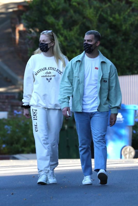 SOPHIE TURNER and Joe Jonas Out and About in Los Angeles 10/27/2020
