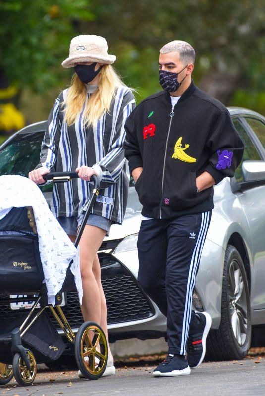 SOPHIE TURNER and Joe Jonas Out in Los Angeles 10/22/2020