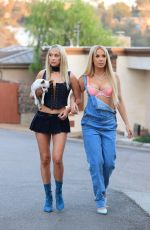 TANA MONGEAU and ASHLY SCHWAN as Paris and Nicole from The Simple Life for Halloween in Los Angeles 10/28/2020