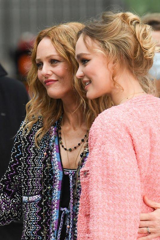 VANESSA PARADIS and LILY-ROSE DEPP at Chanel Photocall at Paris Fashion Week 10/06/2020