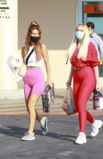 VIOLET BENSON and FRANCESCA FARAGO Out Shopping in Los Angeles 10/17/2020